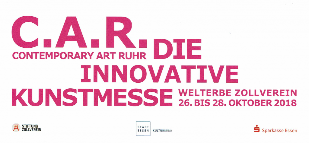 Contemporary Art Ruhr 2018 in Essen, Welterbe Zollverein, Galerie an der Zitadelle, innovative Kunstmesse