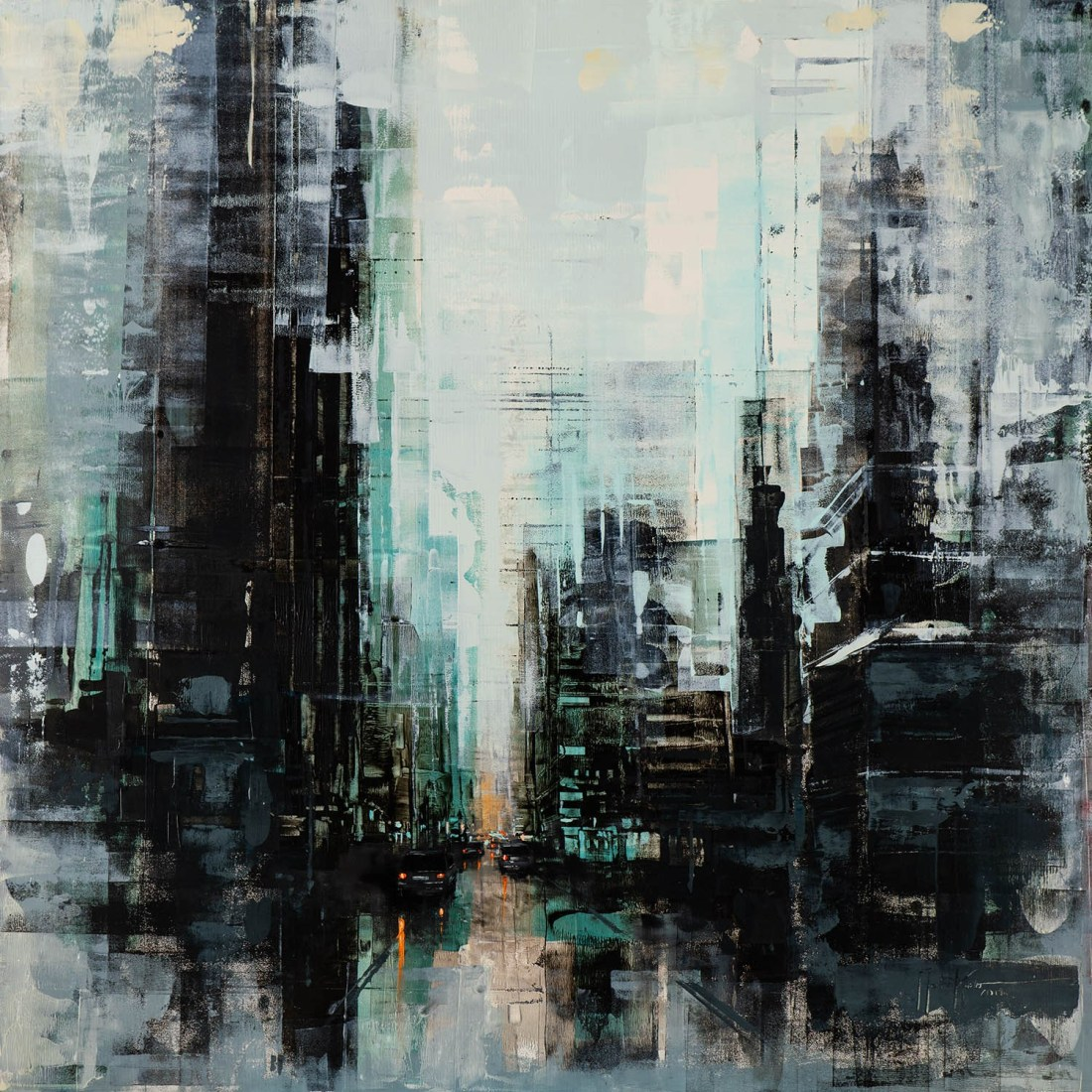 Martin Köster, Singapore noon II, Oil on panel, Unikat, 2019, 100 x 100 cm